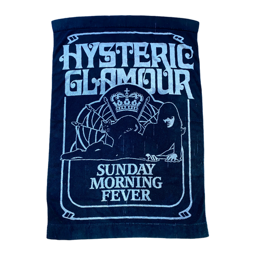 "Hysteric Glamour Black Cat Towel 4"" x 3"""