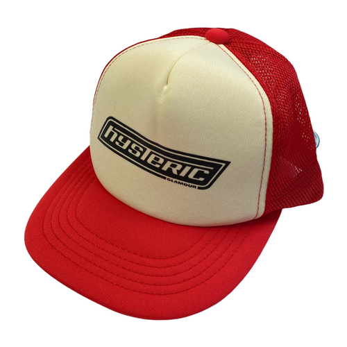 Brand New Hysteric Glamour Red Bar Logo Trucker Hat