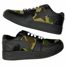 Load image into Gallery viewer, 9 Bape Sta Black Leather Camo