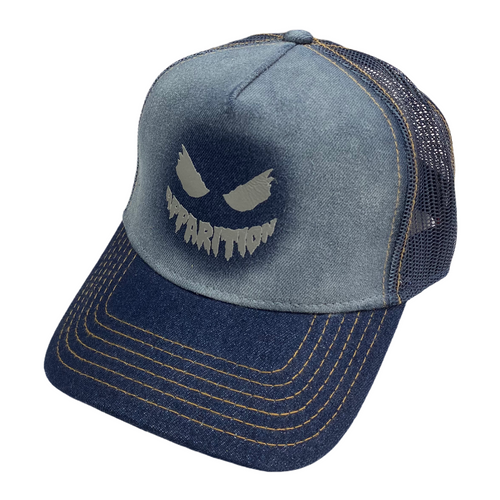 Apparition 3M Reflective Face Air Brushed Denim Trucker Hat