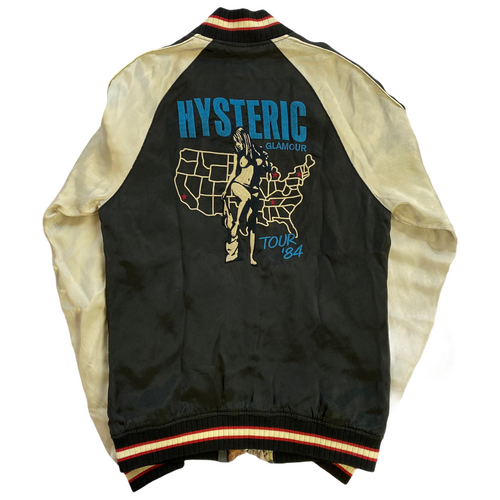 S Hysteric Glamour US Tour 1984 Satin Jacket
