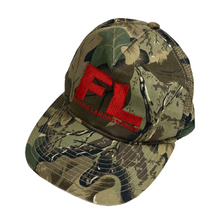 Load image into Gallery viewer, Futura Labs Real Tree Camo Logo Trucker Hat