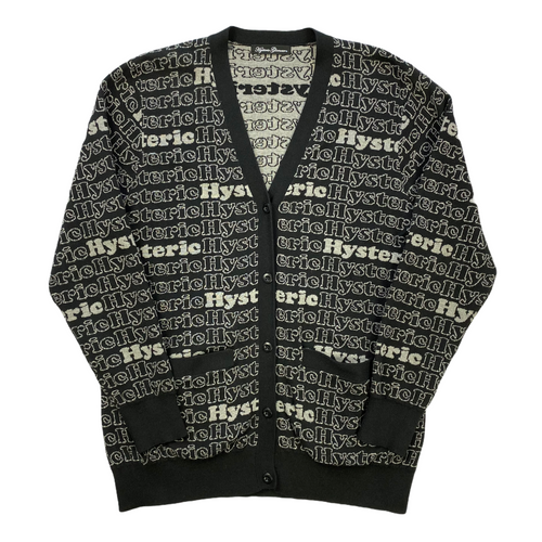 M Hysteric Glamour Vintage Repeating Knit Cardigan