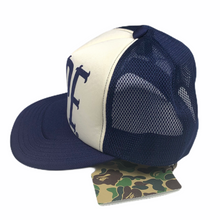 Load image into Gallery viewer, New! Bape Spellout Navy Trucker Hat