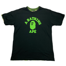 Load image into Gallery viewer, L Bape Reversible Camo/College Logo Tee