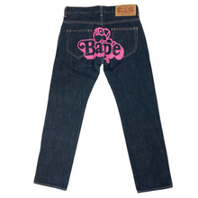 "Load image into Gallery viewer, 27"" x 28"" Bape Baby Milo Pink Baby Lisa Denim Jeans"