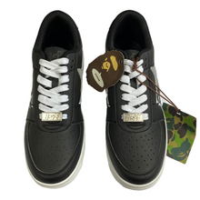 Load image into Gallery viewer, 8.5 Brand New Bape 3M Black Leather Kanji Sta With Box