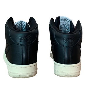 6.5 Bape Black Leather Mid Sta