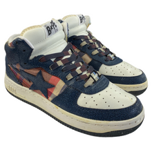 Load image into Gallery viewer, 9 Bape Leather Plaid Mid Sta