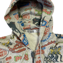 Load image into Gallery viewer, M Hysteric Glamour Print Zip Up Hoody