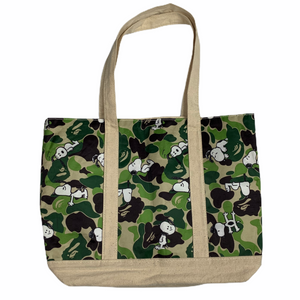 Bape X Snoopy Canvas Reversible tote