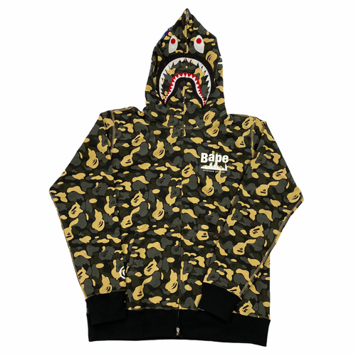 2XL Brand New W Tags Bape NYC Madison Ave Exclusive Camo Shark Hoody