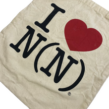 Load image into Gallery viewer, Number Nine I Love N(N) Canvas Tote