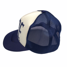 Load image into Gallery viewer, Bape Navy Spellout Trucker Hat