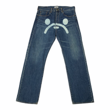 "Load image into Gallery viewer, L 34"" x 32""  Baby Milo Store Milo Face Denim Jeans"