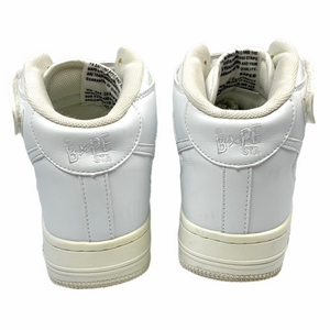 8 Bape Triple White Leather Sta