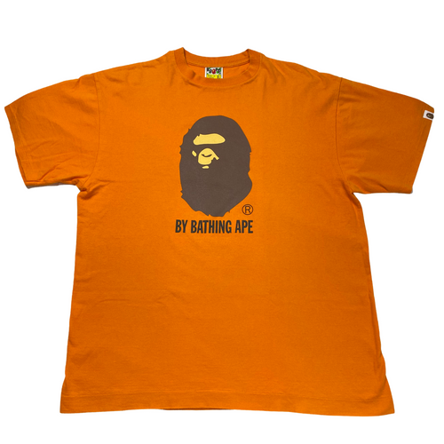 XL Bape Orange Ape Head Tee
