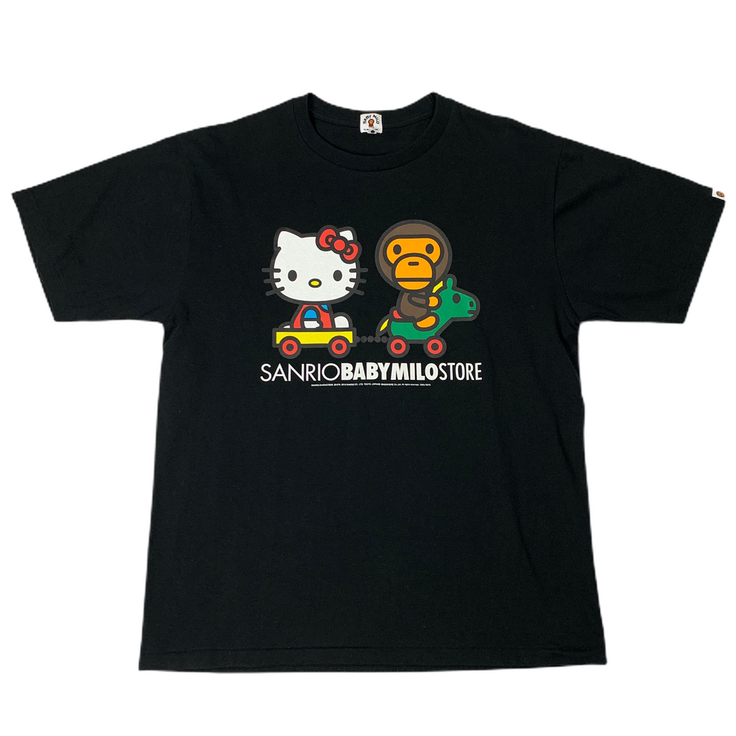 L Bape X Sanrio Hello Kitty Tee