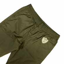 "Load image into Gallery viewer, L 34"" x 32"" Bape Green Nylon Emblem Pants"