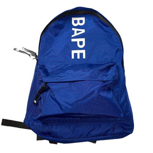 New! Bape Royal Blue Spellout Backpack