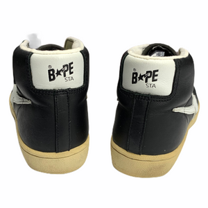 9.5 Bape Black Leather Skullsta hi