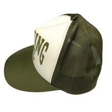 Load image into Gallery viewer, Bape Olive NYC Trucker Hat