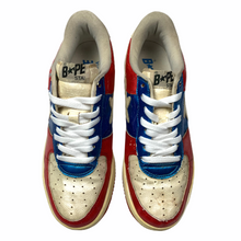 Load image into Gallery viewer, 9 Bape Sta Red Blue Snakeskin