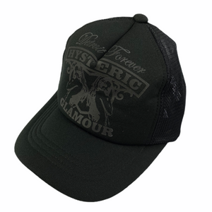 Hysteric Glamour All Black Logo Trucker Hat