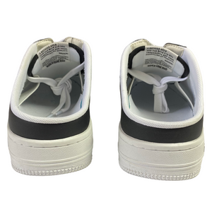 9.5 Bape Black/White Leather Mule Sta With Box