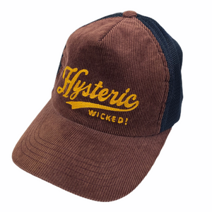 Hysteric Glamour Brown Cord Script Trucker Hat