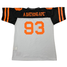 Load image into Gallery viewer, M Bape Orange/Black Mesh Football Jersey
