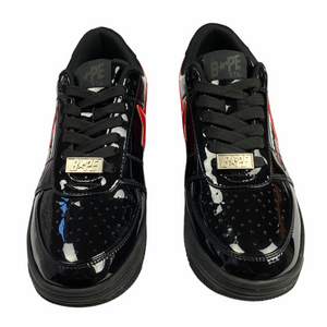 8 Bape Black Patent Leather Shark Sta With Box