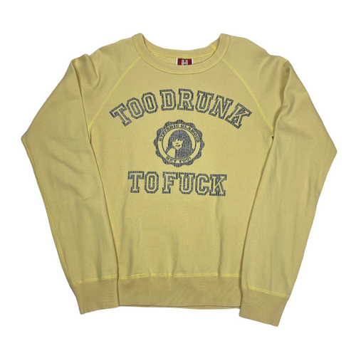 S Hysteric Glamour Too Drunk To Fuck Crewneck