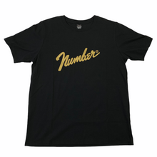 Load image into Gallery viewer, XL Number Nine Gold Foil Logo Tee