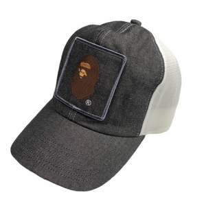 Bape Ape Head Logo Denim Trucker