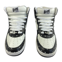 Load image into Gallery viewer, 8.5 Bape Leather Star Patterned Mid Sta