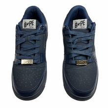Load image into Gallery viewer, 10 Bape Triple Navy Leather Sta