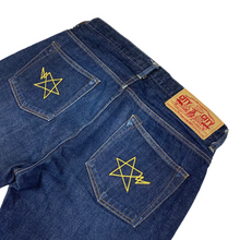 "Load image into Gallery viewer, S 30"" x 28"" Bape Chain Stitch Double Star Denim"