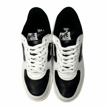 Load image into Gallery viewer, 9.5 Bape Sta Leather White Black