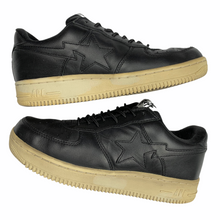 Load image into Gallery viewer, 9.5 Bape Black Leather Sta