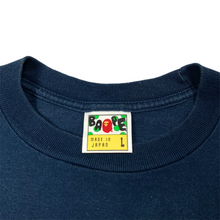 Load image into Gallery viewer, L Bape Navy Script Tee