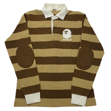 Load image into Gallery viewer, M Bape Striped Long Sleeve Patch Polo