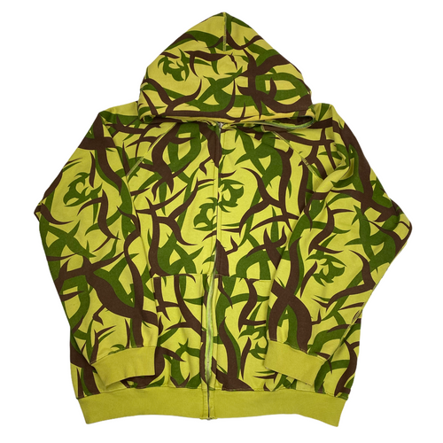 XL Bape Tribal Camo Full Zip Hoody