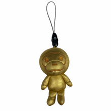 Load image into Gallery viewer, Bape Baby Milo Gold Milo Keychain