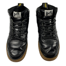 Load image into Gallery viewer, 6 Bape Black Leather Dr Marten Sta
