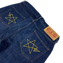 "Load image into Gallery viewer, L 34"" x 32"" Bape Double Stitch Big Star Denim Jeans"