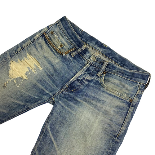 "28"" x 30"" Hysteric Glamour Distressed Kinky Jeans"