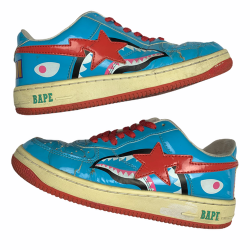 9 Bape Blue WGM Shark Sta