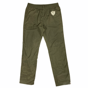 "L 34"" x 32"" Bape Green Nylon Emblem Pants"