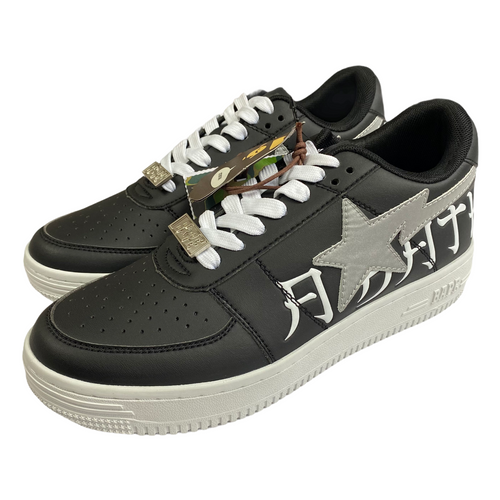 8.5 Brand New Bape 3M Black Leather Kanji Sta With Box